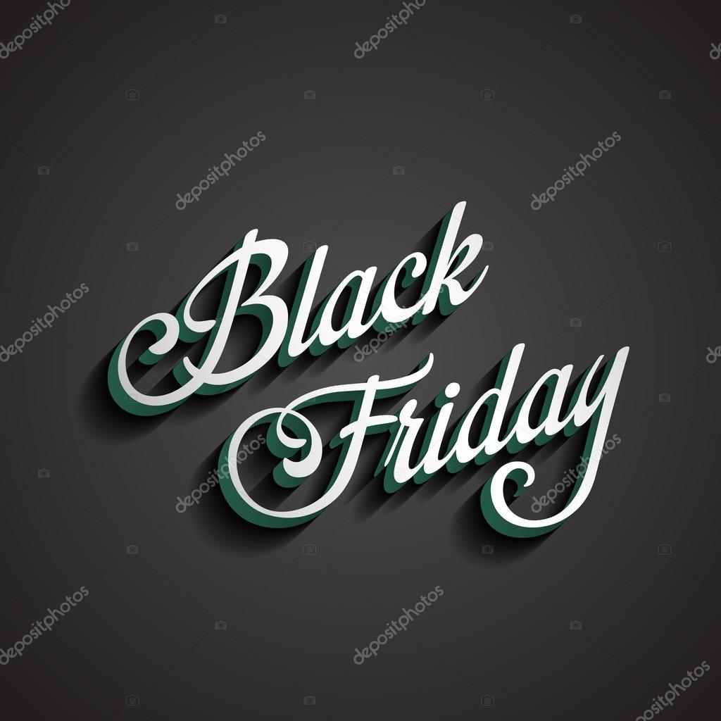Black Friday type calligraphic typography. Sale Discount Calligr