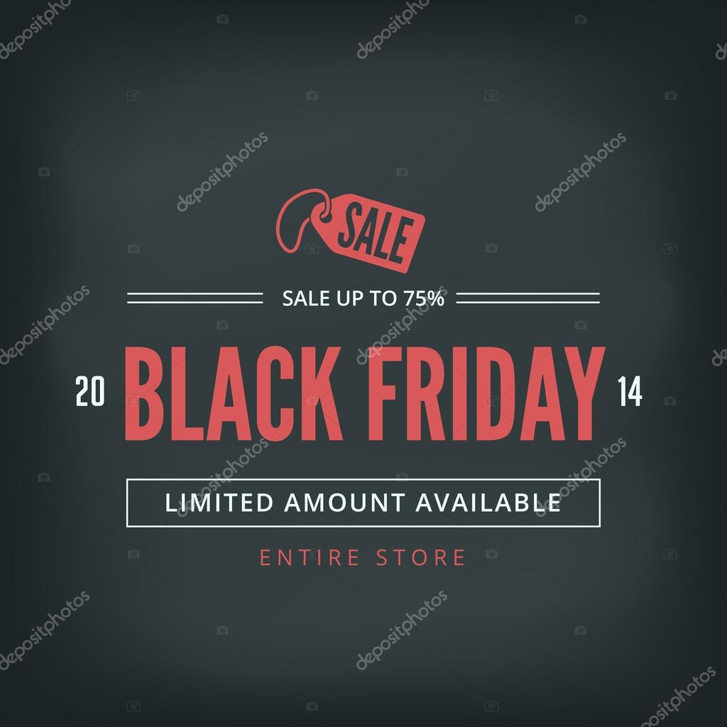Black Friday Sale Poster design Typography vector template Retro
