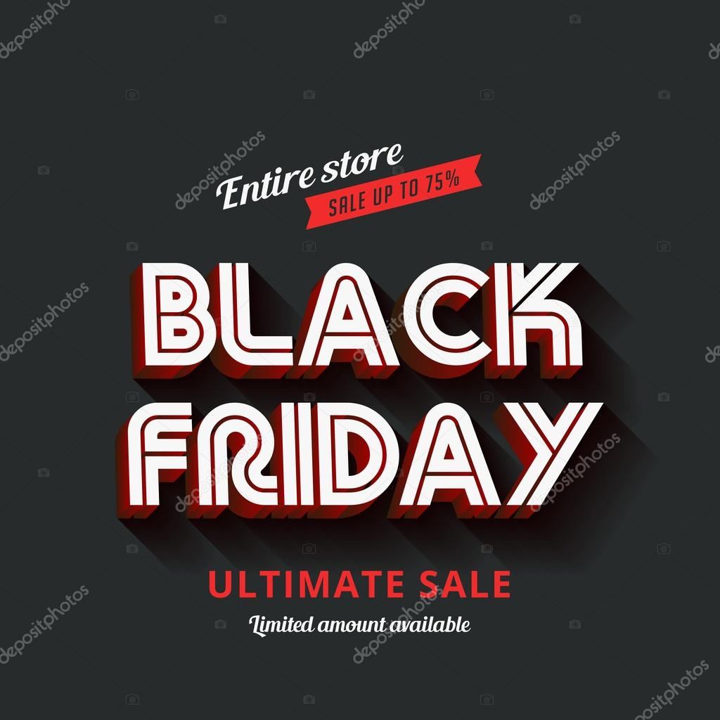 Poster design vector download - Black Friday Typography Advertising Poster Design Vector Templat Stock Illustration