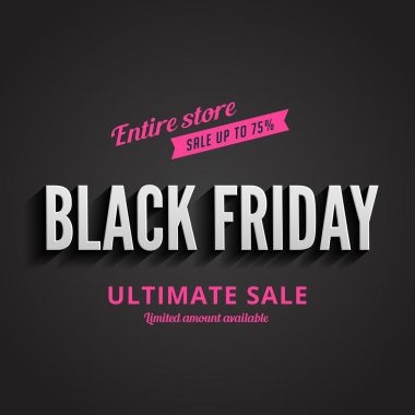 Black Friday Typography Advertising Poster design vector templat