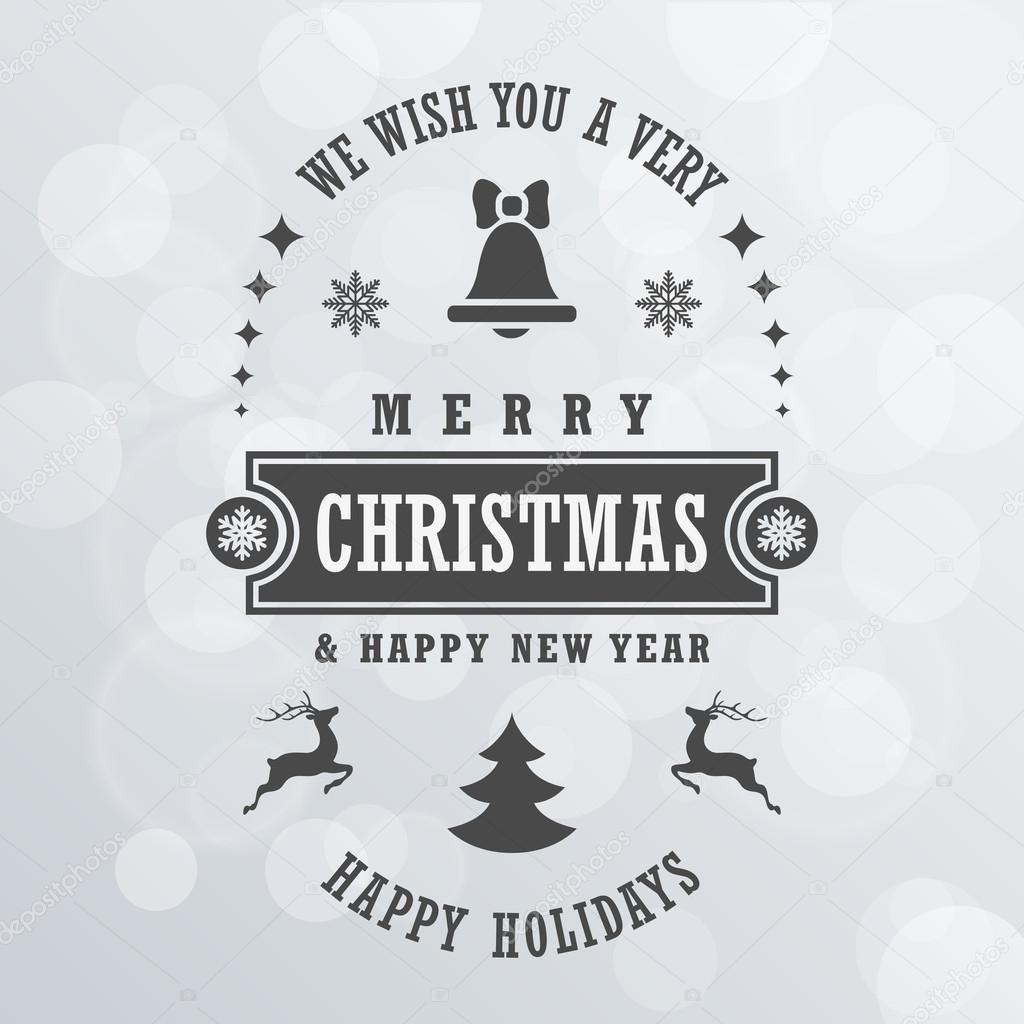 frohe weihnachten vintage retro typografie schriftzug design greeti stockvektor 60125039