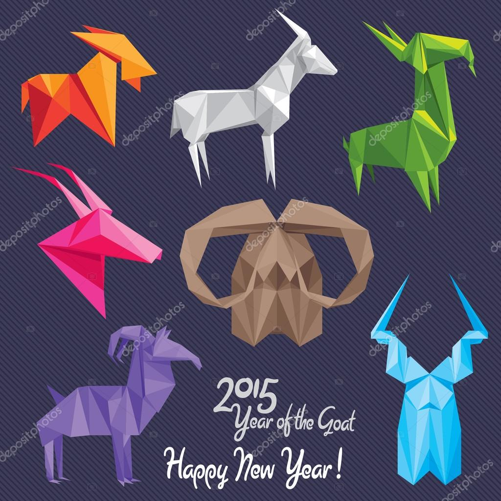 happy new year of the goat stock vector