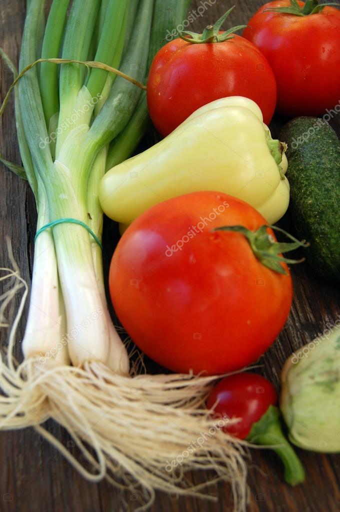 Closeup of fresh seasonal vegetables