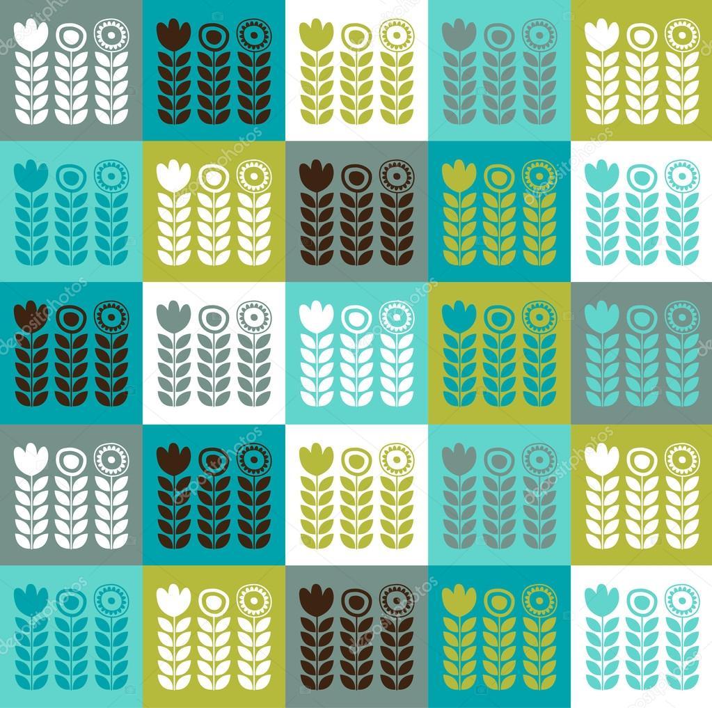 motif floral scandinave photographie re bekka 53715855. Black Bedroom Furniture Sets. Home Design Ideas