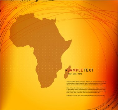 Background with Africa map