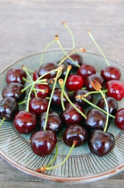 Background with sweet cherries