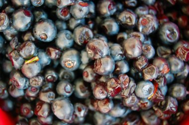 Heap of Ripe blueberries