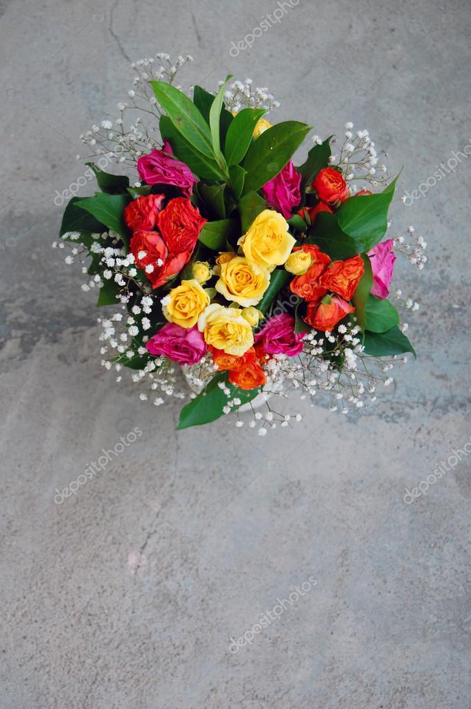 Bouquet De Fleurs Colorées Pour Anniversaire Photographie