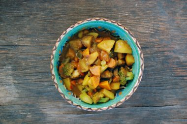 closeup of Indian meal