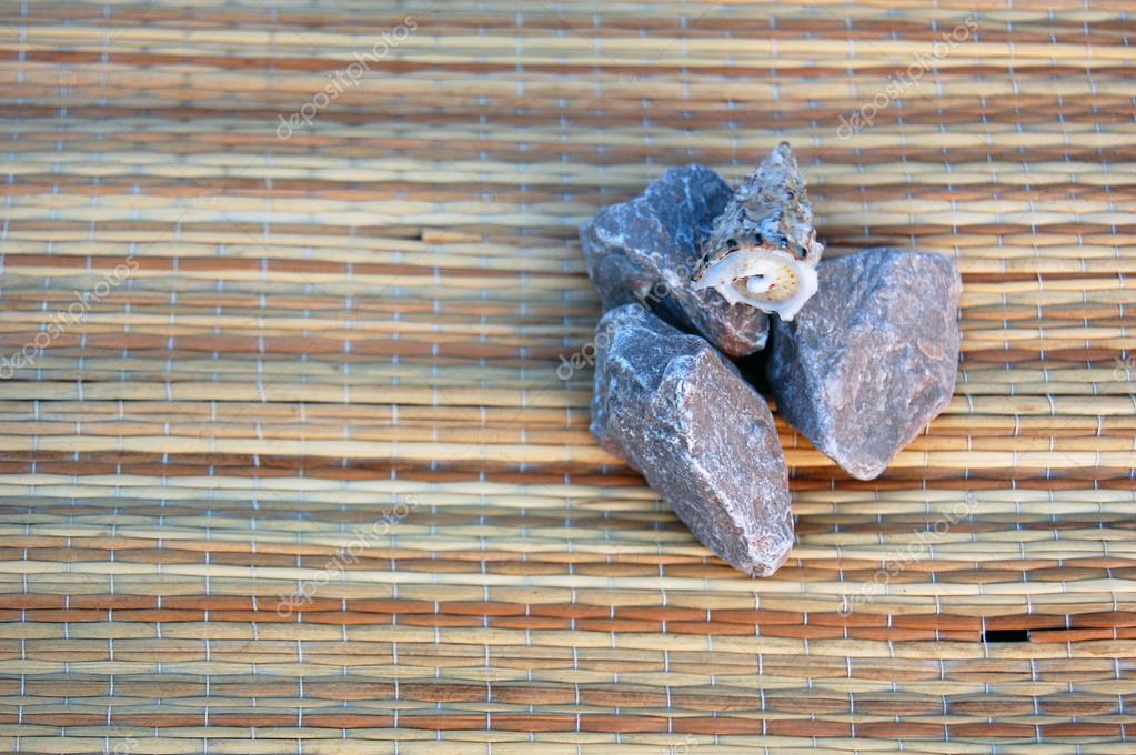 little stones and sea shell
