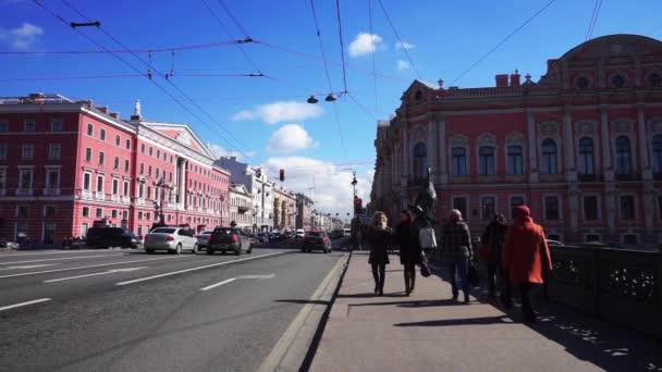 Anichkov hídtól Fontanka folyó