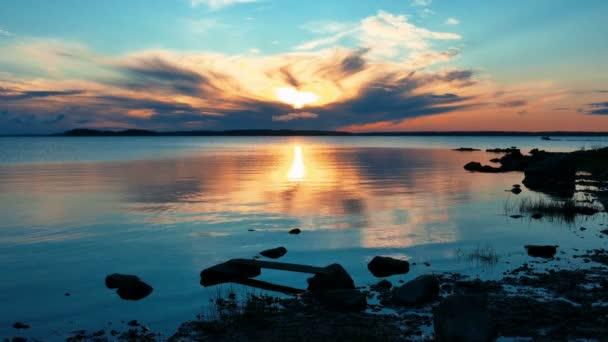 Beautiful Sunrise on The Lake Vodlozero, Karelia