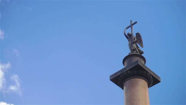 Alexandrine Column at Dvortsovaya (Palace) Square in St.Petersburg, Russia