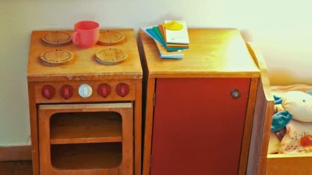 Děti hračky dřevěný kuchyňský nábytek