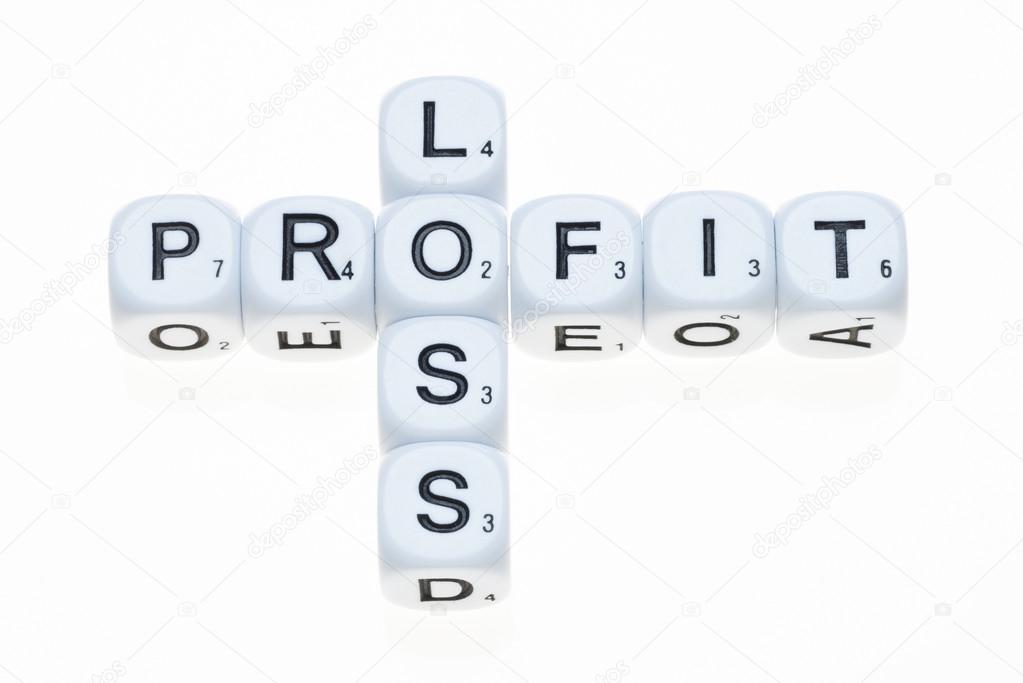 Gewinn und Verlust auf Würfel — Stockfoto © rogerashford #61281211