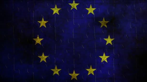 EU flag concept on grunge background