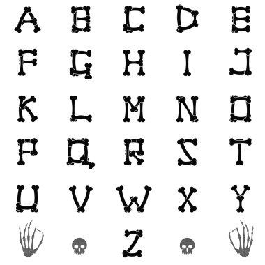 Set of bones letters