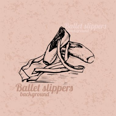 Hand drawn ballet slippers