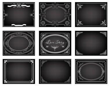 Set of old movie title frames