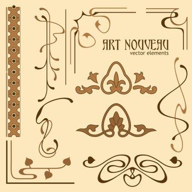 Art Nouveau style design elements