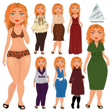 triangle type of woman figure