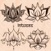 Dekorative Lotusblüten