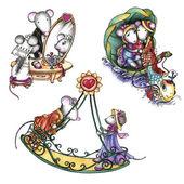 nevěsta a ženich myši