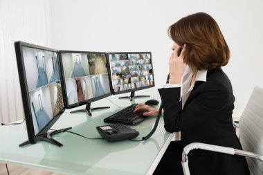 Female Operator with Computers