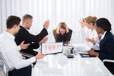 Upset Businesswoman In Meeting