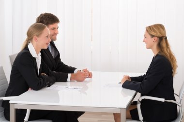 Female Manager Interviewing An Applicant