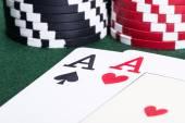 Fotografia Assi nel gioco del blackjack