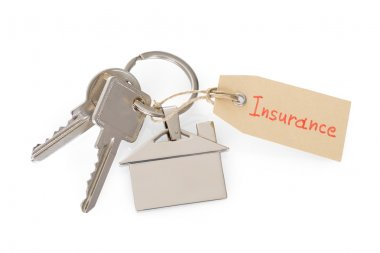 House Key With Insurance Tag