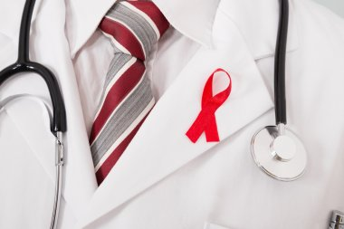 Doctor With Aids Ribbon