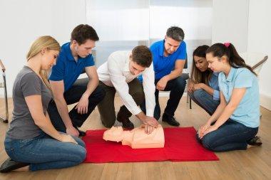 Instructor Showing Resuscitation Technique