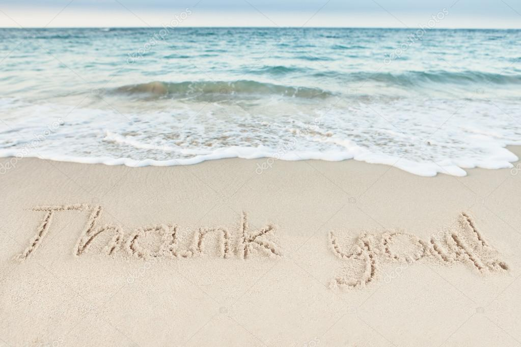 Thank You On Sand