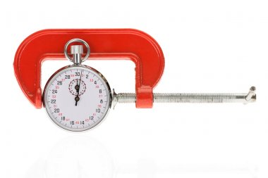 Clamp Holding Stopwatch