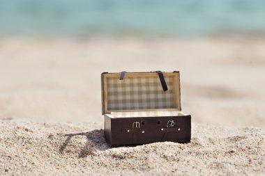 Open Suitcase On Beach