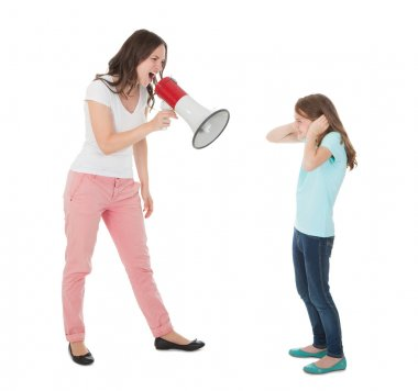 Angry Mother Shouting  At Daughter