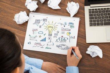 Businesswoman Planning For Start up