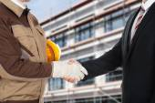 Fotografie Architect And Businessman Shaking Hands