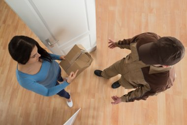 Woman Receiving Damaged Package