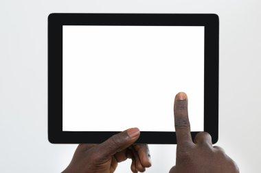 Person Using Digital Tablet
