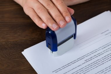 Hand Stamping Document