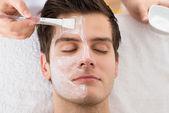 Terapeut použití Obličejová maska na člověka