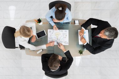 Businesspeople Discussing Start-up Plan