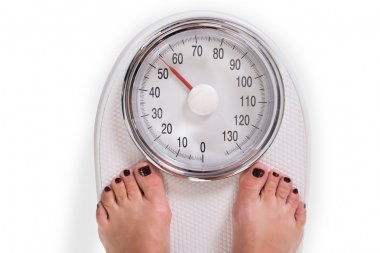 Weighing Scale Over White Background
