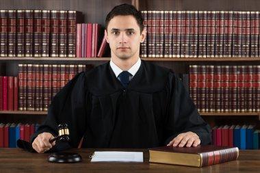 Portrait Of Confident Judge