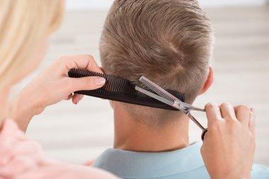 Man Getting Haircut