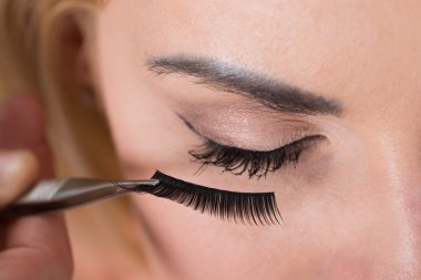 Eyelashes Being Put On  Eye