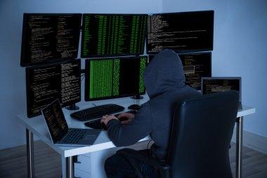 Hacker Using Computers